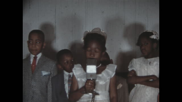 1950's - children on stage for easter ceremony, tulsa, oklahoma, usa - auditorium stock videos & royalty-free footage