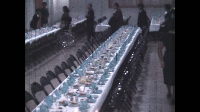 1960's - church social event at first baptist church north tulsa, tulsa, oklahoma, usa - baptist bildbanksvideor och videomaterial från bakom kulisserna