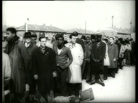 b/w 1960's civil rights march in selma alabama / sound - 1965 selma marches stock videos & royalty-free footage
