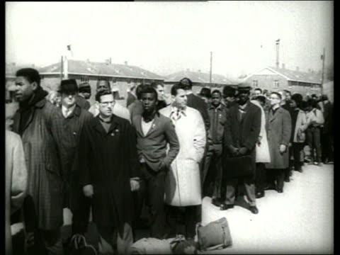 B/W 1960's civil rights march in Selma Alabama / SOUND