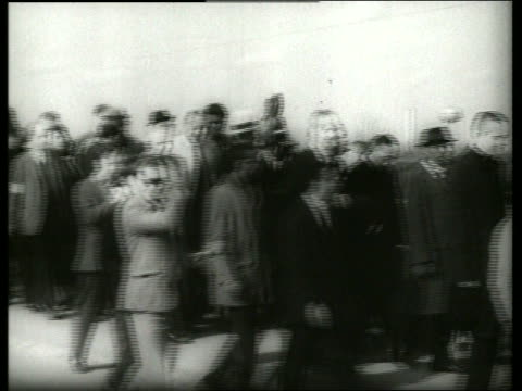 b/w 1960's pan of civil rights march / martin luther king / selma alabama / sound - martin luther religious leader stock videos & royalty-free footage