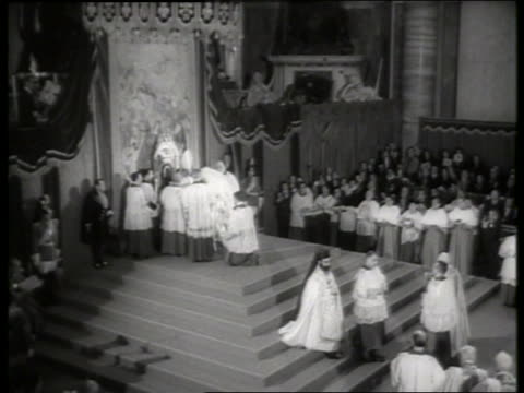 s clergy being elevated to cardinal by pope / rome / st peter's basilica - pope stock videos & royalty-free footage