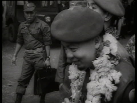 b/w 1960's close up of general khanh / vietnam / sound - only mid adult men stock videos & royalty-free footage