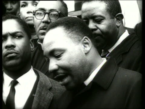 b/w 1960's close up of martin luther king making speech / selma alabama / sound - martin luther religious leader stock videos & royalty-free footage