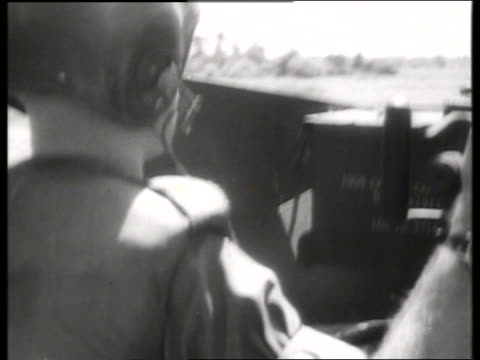 b/w 1960's close up of soldier at gun on tank / vietnam / sound - only mid adult men stock videos & royalty-free footage