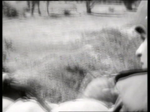 b/w 1960's close up of soldier with headset / vietnam / sound - only mid adult men stock videos & royalty-free footage