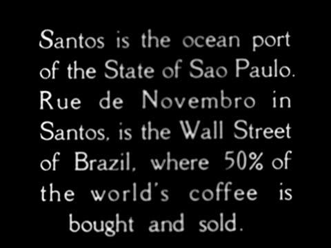 vídeos de stock, filmes e b-roll de 1920's - coffee transported and shipped - 1920