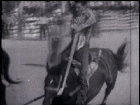 1940's colorado rodeo - bucking stock videos & royalty-free footage