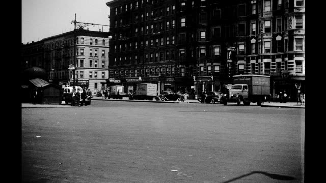 1930's - corner of 111th street and lenox avenue in harlem - new york city 1930s stock videos & royalty-free footage