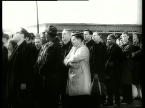 b/w 1960's crowd in civil rights march / selma alabama / sound - 1965 selma marches stock videos & royalty-free footage