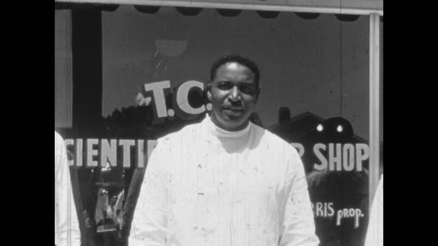 t1940's - c's scientific barber shop, greenwood, tulsa, oklahoma, usa - african american culture stock videos & royalty-free footage