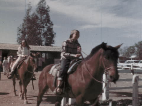 """1960's - dude ranch in arizona - """"archive farms"""" stock videos & royalty-free footage"""