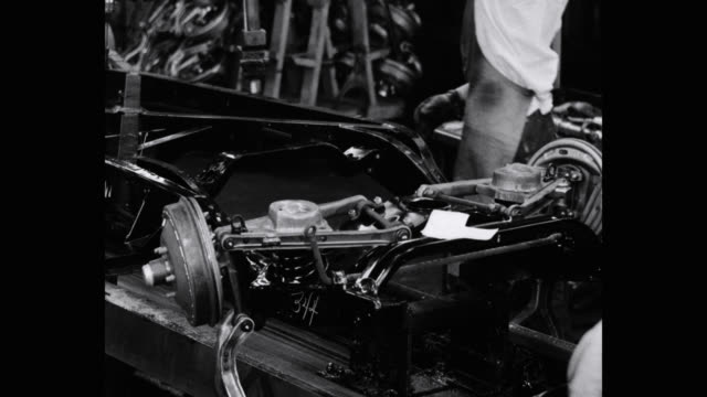 1950's - engineers working at production line in automobile industry - 1950 stock videos & royalty-free footage