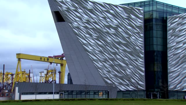 s exterior of titanic belfast in belfast, northern ireland - belfast stock videos & royalty-free footage