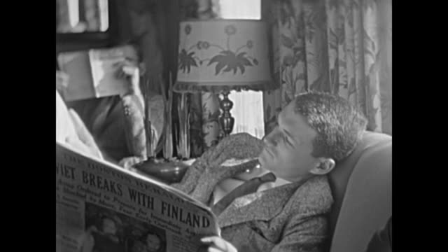1930's family spending quality time in living room - 1930 stock videos and b-roll footage