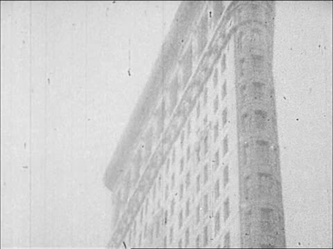 1900's flatiron building - flatiron building manhattan stock videos and b-roll footage
