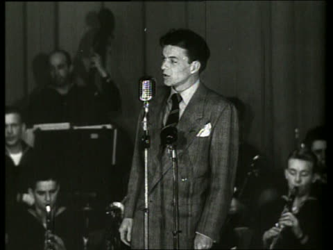 s frank sinatra singing into microphone on stage - frank sinatra stock videos & royalty-free footage