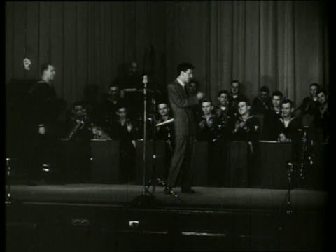 s frank sinatra standing on stage with orchestra - frank sinatra stock videos & royalty-free footage