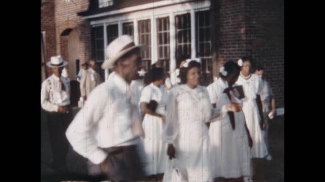 1950's - freemason's picnic, oklahoma, usa - afroamerikansk historia i usa bildbanksvideor och videomaterial från bakom kulisserna