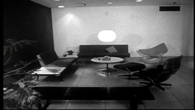 1950's grand rapids furniture displays - modern period stock videos and b-roll footage