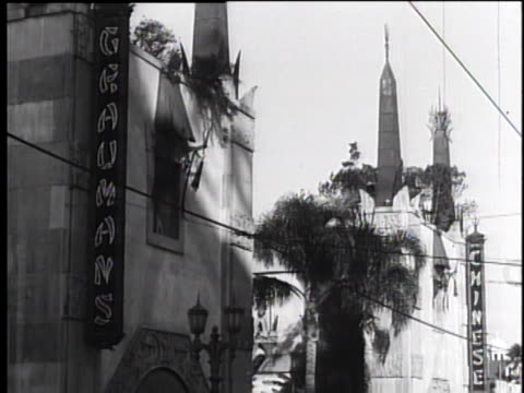 1930's grauman's chinese theatre, hollywood, ca - tcl chinese theatre stock videos & royalty-free footage