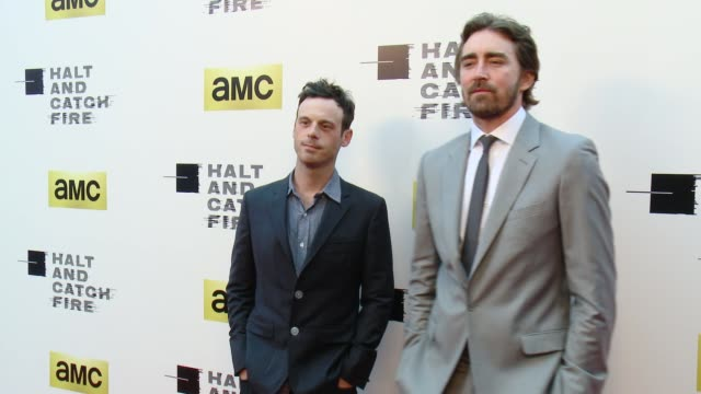 clean amc's halt and catch fire los angeles premiere at arclight cinemas on may 21 2014 in hollywood california - arclight cinemas hollywood stock videos and b-roll footage
