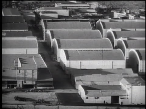 1930's high angle pan over warner bros soundstages - warner bros stock videos & royalty-free footage