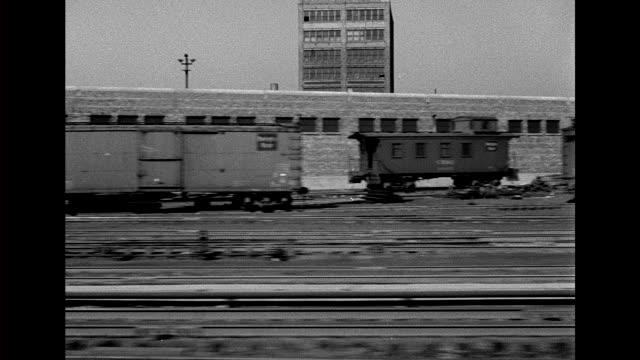 1930's industrial chicago - 操車場点の映像素材/bロール