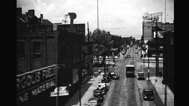 vídeos de stock e filmes b-roll de 1940's industrial north philadelphia - filadélfia pensilvânia