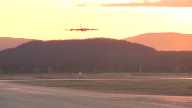 B52's landing and taking off during EXERCISE