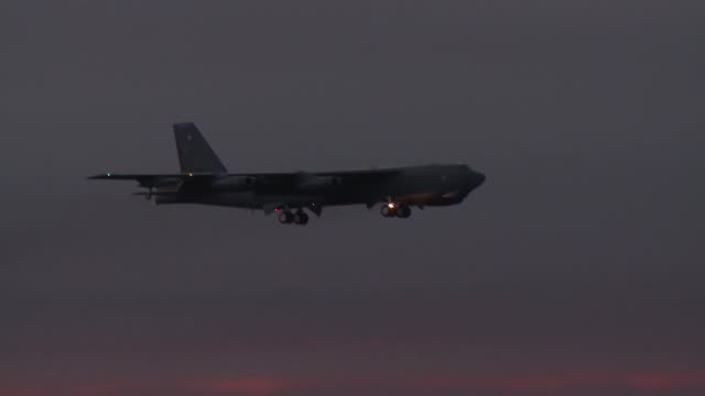 b52's landing and taking off during exercise - air vehicle stock videos & royalty-free footage
