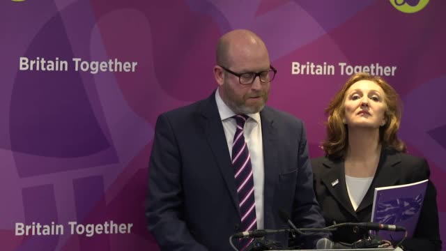 bbc's laura kuenssberg heckled asking question at ukip manifesto launch also includes a question from itv reporter - laura kuenssberg stock-videos und b-roll-filmmaterial