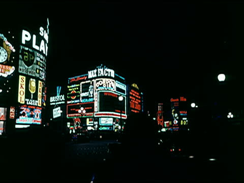 stockvideo's en b-roll-footage met 1960's - london at night - 1965