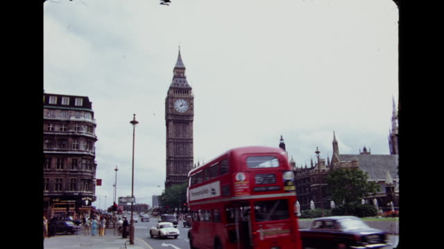 1960's london - big ben - 1960 stock-videos und b-roll-filmmaterial