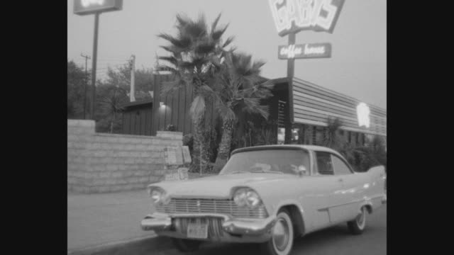 1950's los angeles car pov - burbank stock-videos und b-roll-filmmaterial