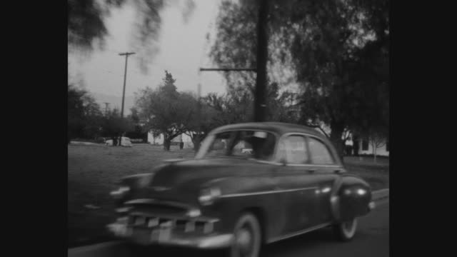 1950's los angeles car pov - toluca lake stock videos & royalty-free footage