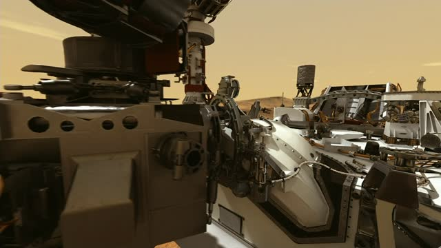 s mars mission faces its biggest test; animation of mars 2020 mission perseverance rover collecting samples - collection stock videos & royalty-free footage