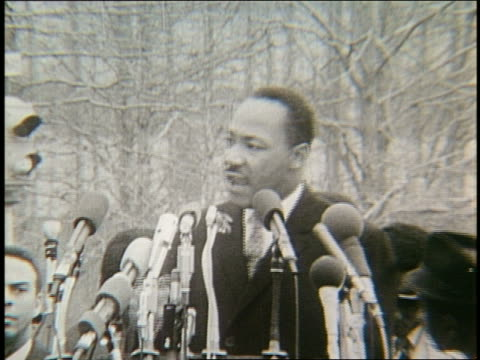 b/w 1960's martin luther king jr making speech - martin luther religious leader stock videos & royalty-free footage
