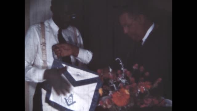 1950's - masonic ceremony, oklahoma, usa - afroamerikansk historia i usa bildbanksvideor och videomaterial från bakom kulisserna