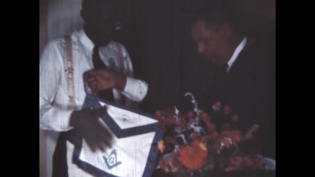 1950's - masonic ceremony, oklahoma, usa - traditional ceremony stock videos & royalty-free footage