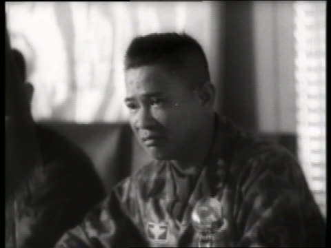 b/w 1960's military governor of saigon / vietnam / sound - only mid adult men stock videos & royalty-free footage