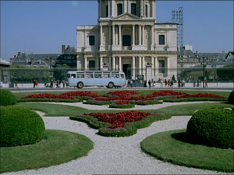 1960's montage, sights of paris - avenue des champs elysees stock videos & royalty-free footage