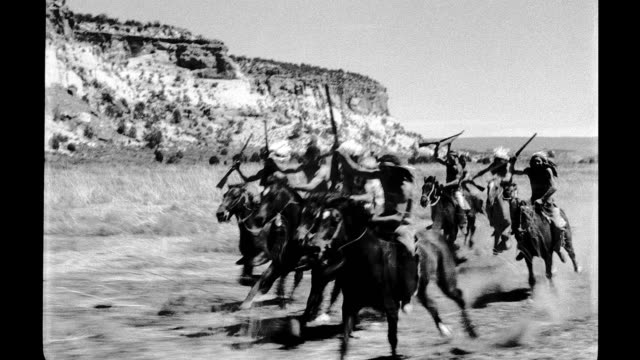1930's - native americans on horseback - wild west stock videos & royalty-free footage