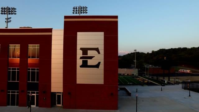 etsu's new william b. greene jr. football stadium - tennessee stock videos & royalty-free footage