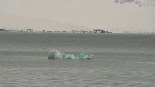 GV's of arctic landscape icebergs and ice in Svalbard Norway