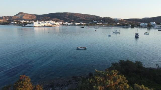 gv's of milos - cyclades islands stock videos & royalty-free footage