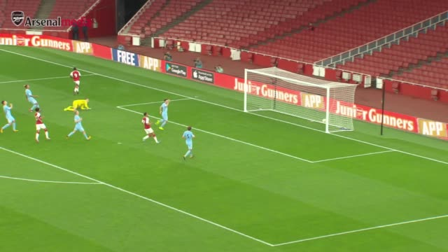 hl's of the u23's game between arsenal and man city - calcio sport video stock e b–roll