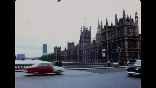1960's palace of westminster, london - 1960 stock videos & royalty-free footage