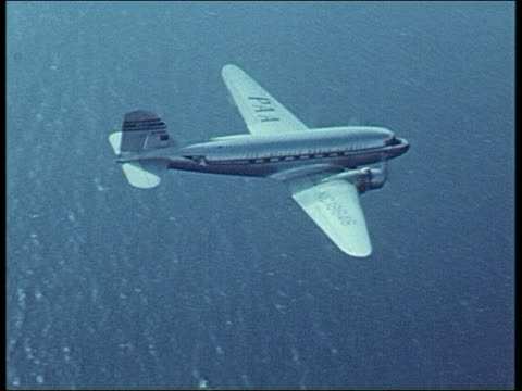 1940's pan am clipper - tail wing stock videos and b-roll footage