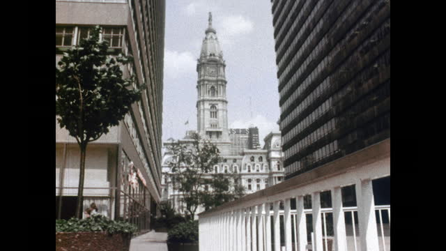"""1960's - philadelphia city hall, other sites - """"archive farms"""" stock videos & royalty-free footage"""